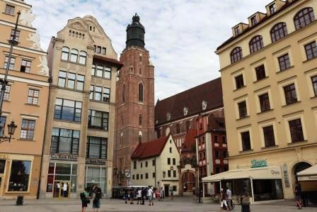 15 RR Polen Breslau Kirche mit runtergefallener Spitze