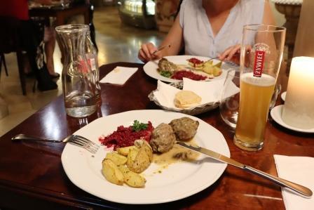 37 RR Polen Krakau Abendessen das war lecker