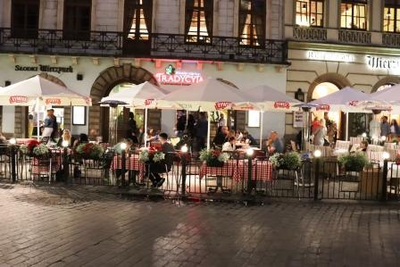 38 RR Polen Krakau Abendessen dort