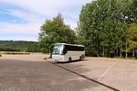 65 Normandie nur ein Bus in Giverny Garten von Monet