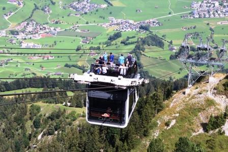 30 Vierwaldstätter See Ausflug Stanserhorn die Cabrio Bahn