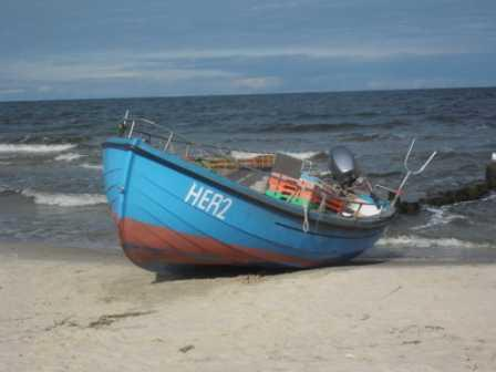 7. Bansin Strand ein Schiff der Herrmann Flotte