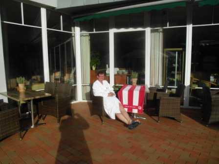 8 Hotel der Chef in einer Ruhezeit